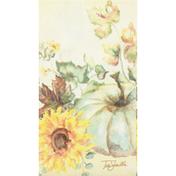 CR Gibson Napkins, Guest/Dinner, Sunflowers & Pumpkins, 3-Ply