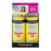 Neutrogena® Beach Defense Water + Sun Protection Sunscreen Spray SPF 30 - 2 PK