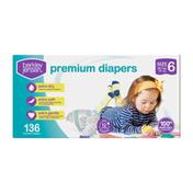Berkley Jensen Premium Baby Diapers, Size 6