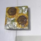 Ideal Home Range Botanical Sunflower Cream Cocktail Napkin