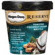 Haagen-Dazs Reserve Toasted Coconut Sesame Brittle Ice Cream