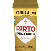 Forto Energy Coffee, Organic, Vanilla Latte