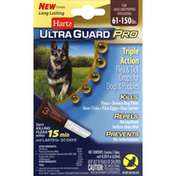 Hartz Flea & Tick Treatment, for Dogs & Puppies, Weighing 61-150 lbs