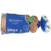 Food Club Bagels, Blueberry, Pre-Sliced