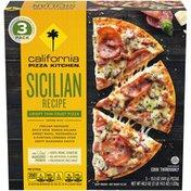 California Pizza Kitchen Sicilian Recipe Crispy Thin Crust Frozen Pizza