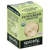 Spicely Organics Fenugreek, Ground, Organic, Box