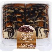 Olson's Baking Company Creme Cake, Chocolate Marble, Sliced