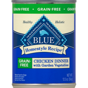 Blue Food for Dogs, Natural, Chicken Dinner, with Garden Vegetables