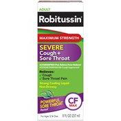 Robitussin Syrup Maximum Strength Severe Cough + Sore Throat Liquid