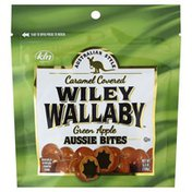 Wiley Wallaby Aussie Bites, Caramel Covered, Green Apple