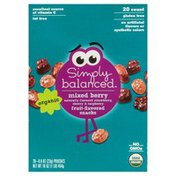 Simply Balanced Snacks, Fruit-Flavored, Organic, Mixed Berry