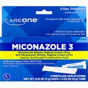 CareOne Miconazole 3, Vaginal Antifungal, 3-Day Treatment, Combination Pack