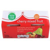 Food Club Cherry Mixed Fruit Light Syrup