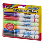 Cra-Z-Art Washable Dry Erase Markers - 6 CT