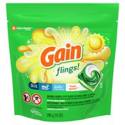 Gain Flings! Liquid Laundry Detergent Pacs, Fresh Splash