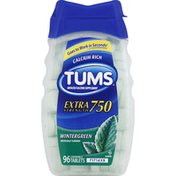 Tums Antacid/Calcium, Extra Strength 750, Chewable Tablets, Wintergreen