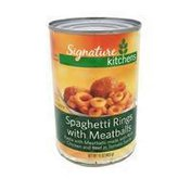 Signature SELECT SPAGHETTI RINGS with MEATBALLS MADE WITH PORK, CHICKEN & BEEF IN TOMATO SAUCE