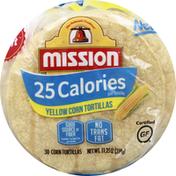 Mission Tortillas, Yellow Corn, 25 Calories, Super Soft