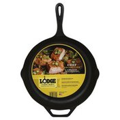 Lodge Skillet, Cast Iron, Chef Style, 12 Inch