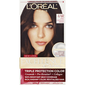 Excellence Permanent Color, Triple Protection, Dark Chocolate Brown 4AR