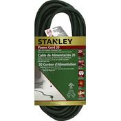 Stanley Power Cord, 20 Feet