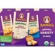 Annie's Macaroni & Cheese, Organic, Variety 12 Pack