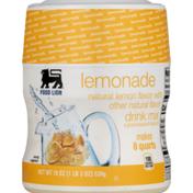 Food Lion Drink Mix, Lemonade, Jar