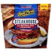 Ball Park Fully-Cooked Flame Grilled Beef Burgers, Frozen