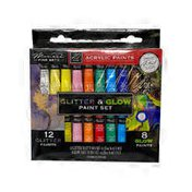 Anker Play 20 Pieces Glitter & Glow Paint Set