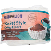 Food Lion Coffee Filters, Basket Style, 7 Inches