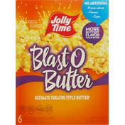 JOLLY TIME Microwave Popcorn, Blast O Butter