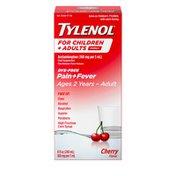 Tylenol Family, Children & Adults Oral Suspension, Dye-Free, Cherry Flavor
