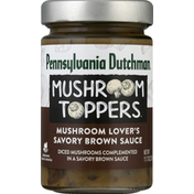 Pennsylvania Dutchman Mushroom Toppers, Mushroom Lover's Savory Brown Sauce