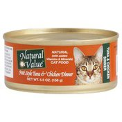 Natural Value Cat Food, Pate Style Tuna & Chicken Dinner