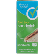 Simply Done Fold Top Sandwich Bags