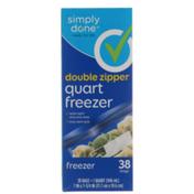 Simply Done Double Zipper Quart Freezer Bags