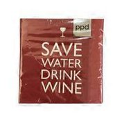 Paperproducts Design Save Water Drink Wine Paper Cocktail Napkins