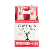 Owen's Craft Mixers Ginger Beer + Lime Mix