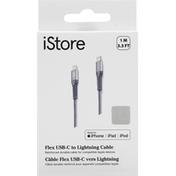 iStore Cable, Flex USB-C to Lightning, 3.3 Feet