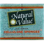 Natural Value Sponges, Cellulose, Dual Surface