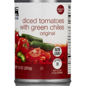 Food Lion Tomatoes, Diced, with Green Chiles, Non GMO, Original, Can