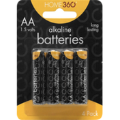 Home 360 AA Alkaline Batteries