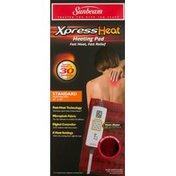 Sunbeam Heating Pad, Xpress Heat, Standard