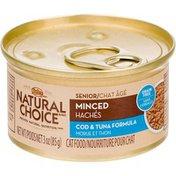 Nutro Natural Choice Minced Cod & Tuna Formula Canned Senior Cat Food Case Of 24