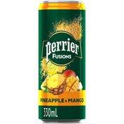PERRIER Fusions Pineapple Mango Sleek Can
