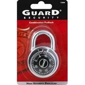 Guard Security Padlock, Combination, 2 Inch