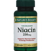 Nature's Bounty Time Released Dietary Capsules Niacin