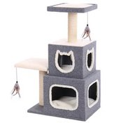 Penn-Plax Cat-Life Duplex Cat Lounge With Lounging Tower & Scratching Posts