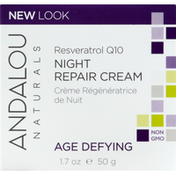 Andalou Naturals Night Repair Cream, Resveratrol Q10, Age Defying