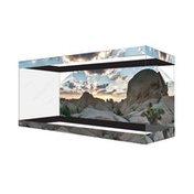 Habitat Wraps Multi-Color Desert Canyon Cloud Reusable Glass Tank Background